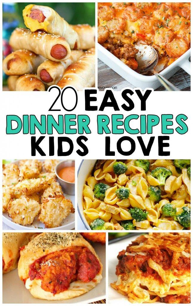 20 Easy Dinner Recipes That Kids Love | DIY Ideas | Dinner ...
