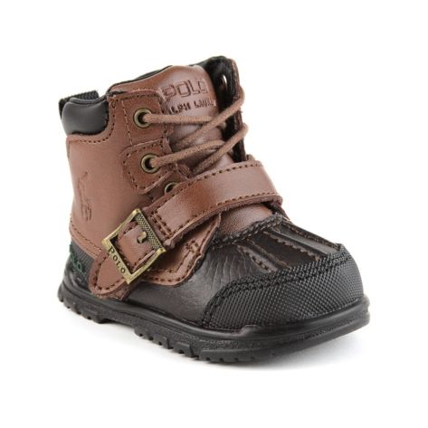 e91b47f20b62 Shop for Crib Country Lace Boot by Polo Ralph Lauren in Brown at Journeys  Kidz.