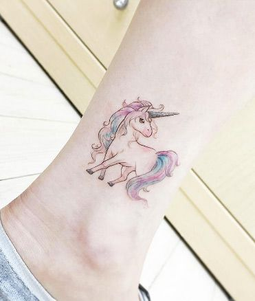 Tiny Girl Tattoo Ideas For Your First Ink Magical Unicorn - Mythical creatures are brought to life in these stunning black ink tattoos
