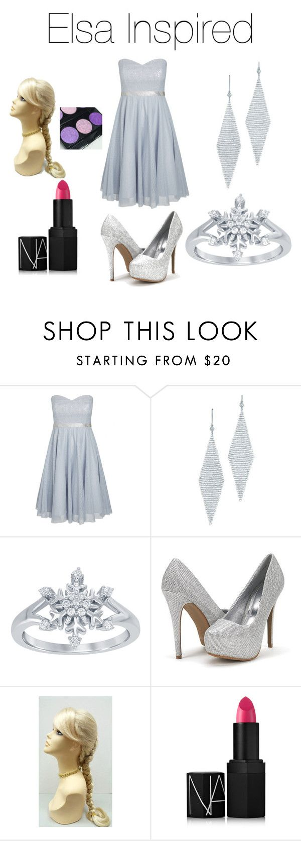 """""""Queen Elsa!❄️"""" by jazzrodgers ❤ liked on Polyvore featuring City Chic, Tiffany & Co., Disney, NARS Cosmetics and plus size dresses"""