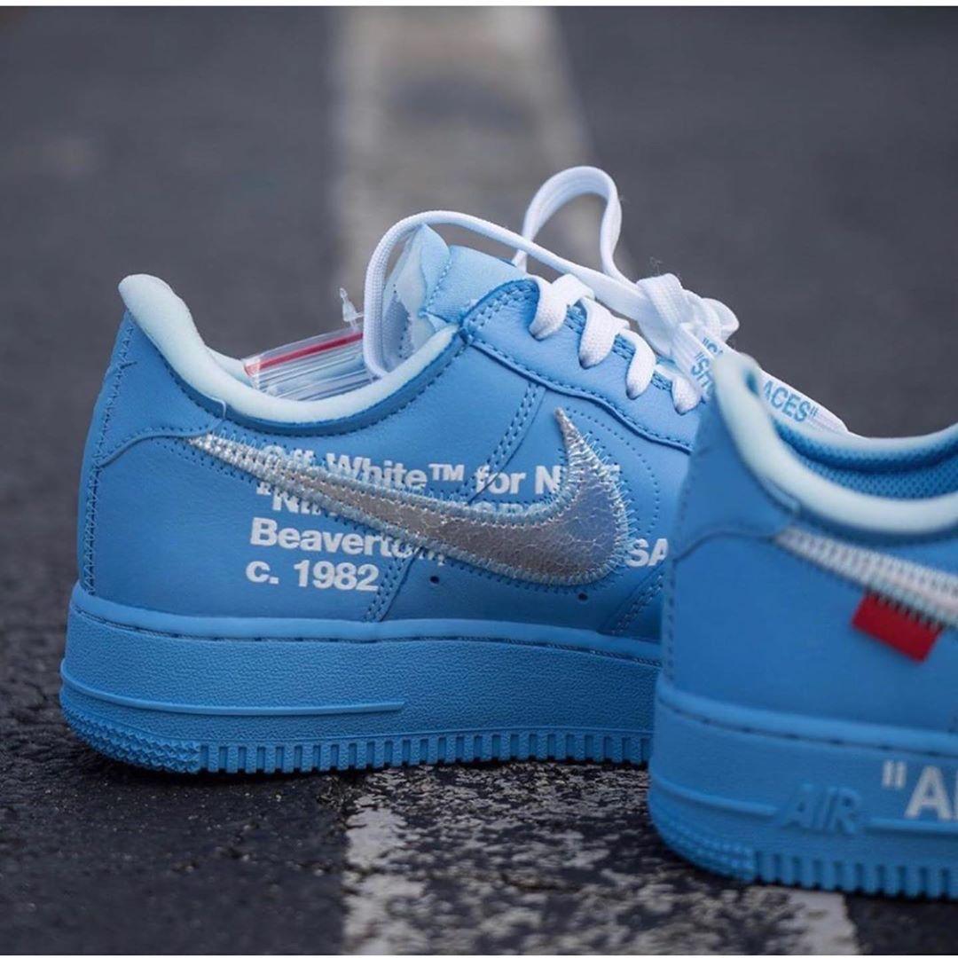 Découvrez la Off White x Nike Air Force 1 Low University Blue