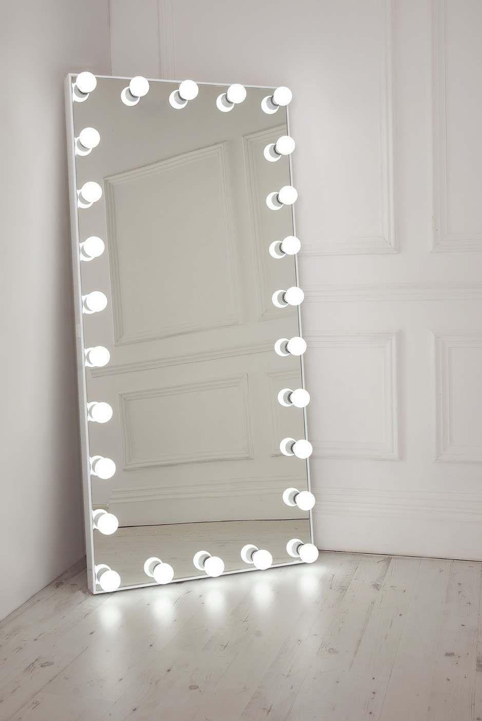 Floor Length Mirror With Lights  Walesfootprintorg