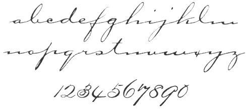 Long Elegant Cursive Font