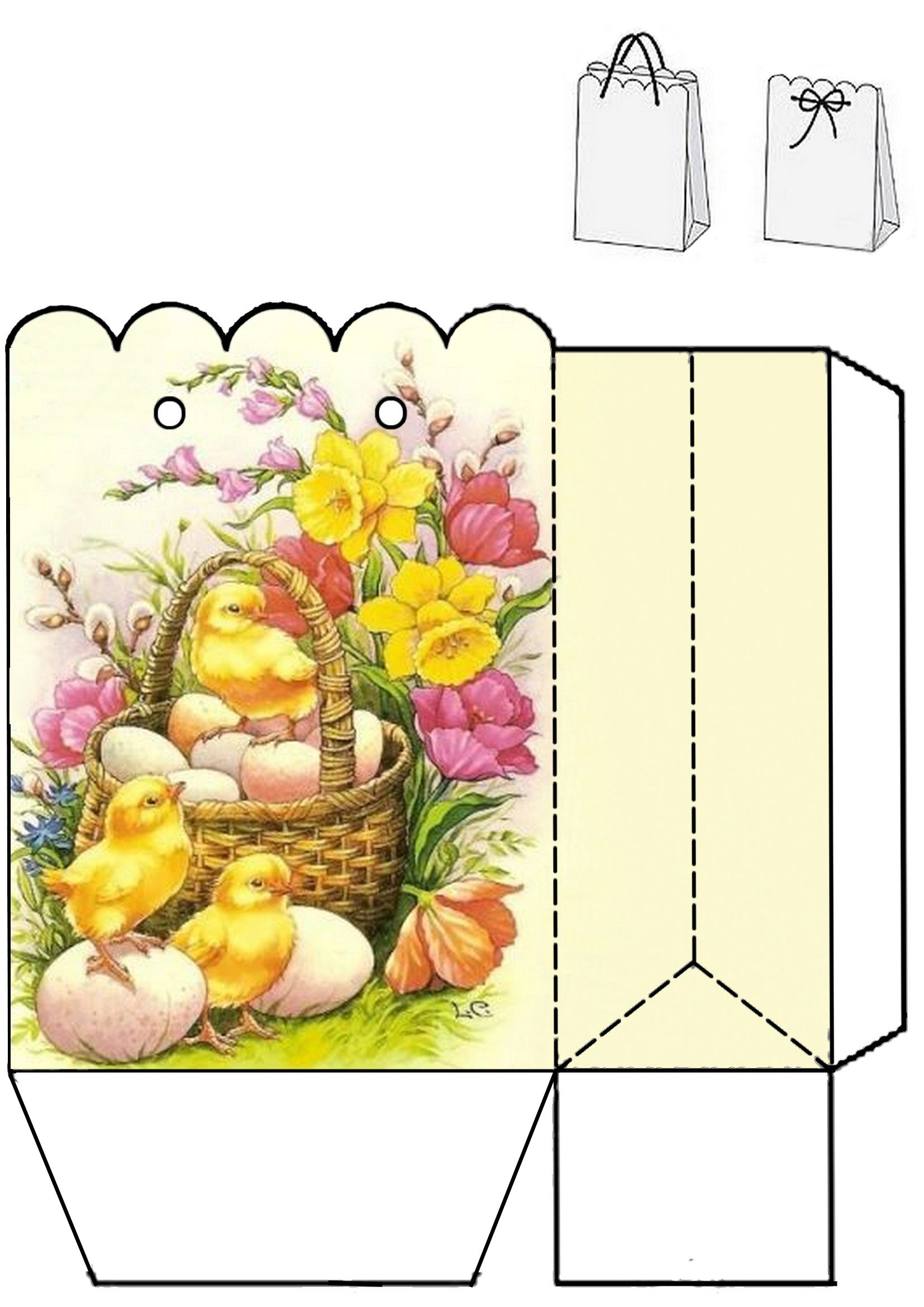 Easter gift bag print two copies and glue together photo only easter gift bag print two copies and glue together photo only negle Images