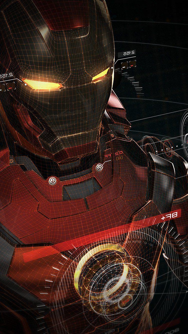 Aq06 Ironman 3d Red Game Avengers Art Illustration Hero Vignette Iron Man Komik Marvel Pahlawan Super