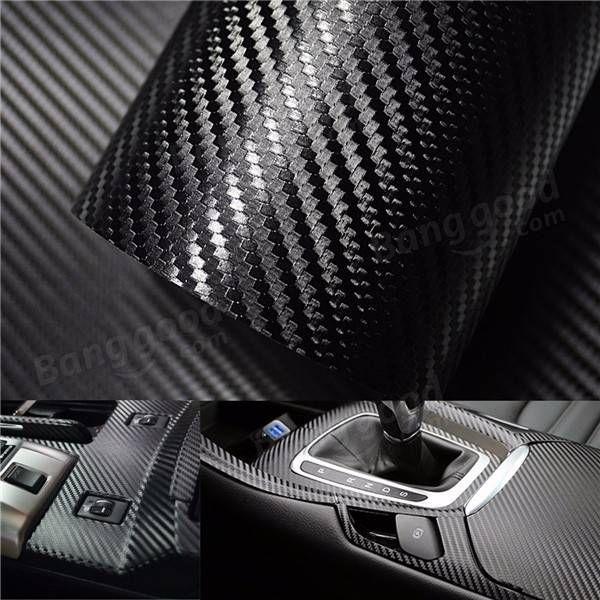 Glossy Car Sticker 7D Carbon Fiber Wrap Vinyl Film Motorcycle Auto Accessories