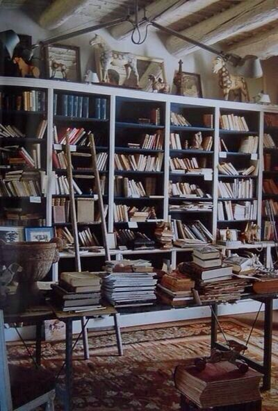 Old Room Full Of Books And Magical Accessories Home Library