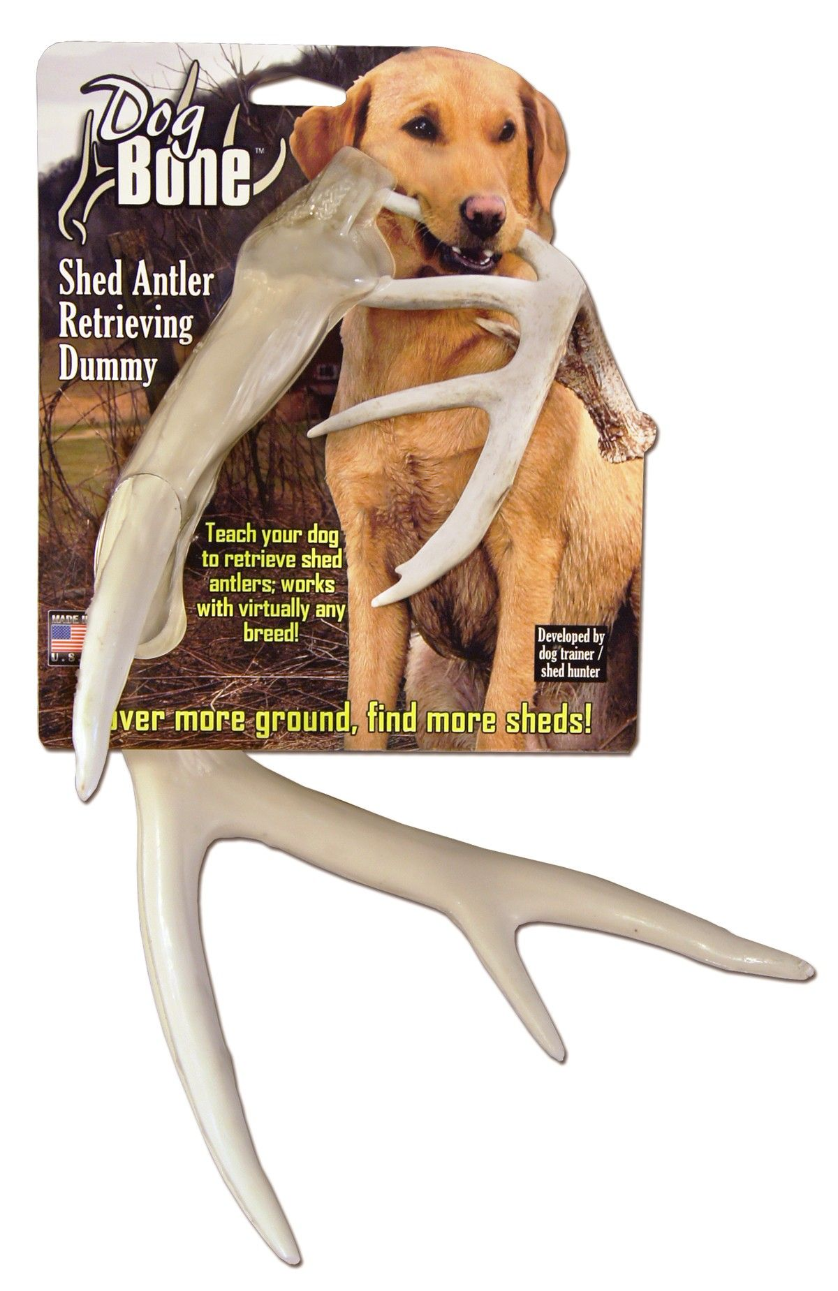 Dogbone Shed Antler Dog Retrieving And Training Dummy White By