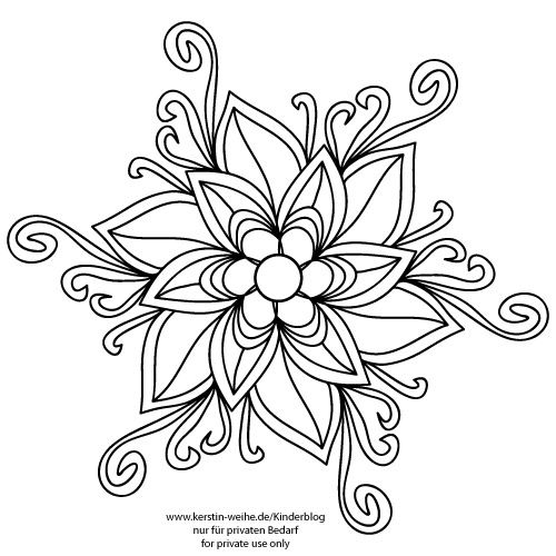 blume by kerstin weihe coloring mandalas pinterest. Black Bedroom Furniture Sets. Home Design Ideas