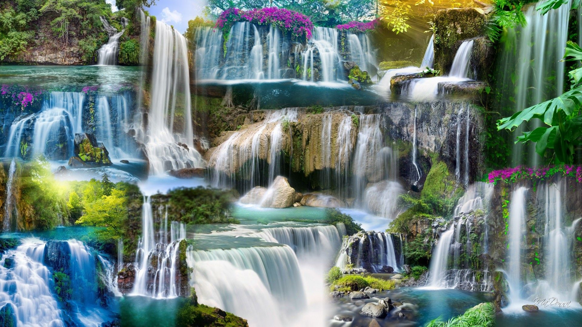 waterfall sea waterfall wallpaper waterfall streams wallpapers 414 stunning waterfallas pinterest