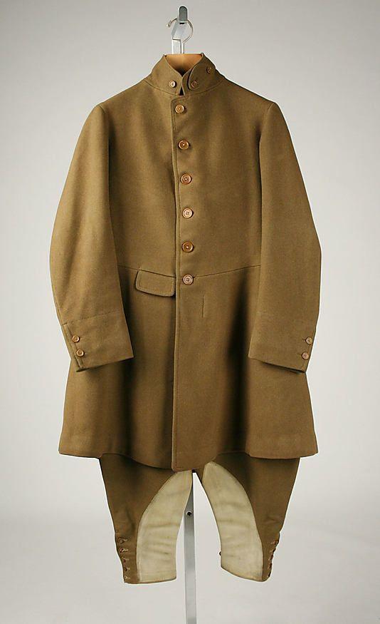 Tan wool riding habit, by E. Tautz & Sons, British (London), 1920s.