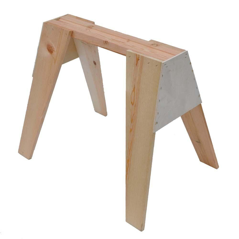 Signature Development 29 in. Wooden Sawhorse