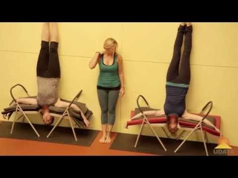 headstand with 2 chairs  jules mitchell  youtube great