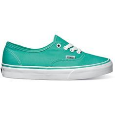 Vans Authentic Shoe - Pool Green/True White found on Polyvore...