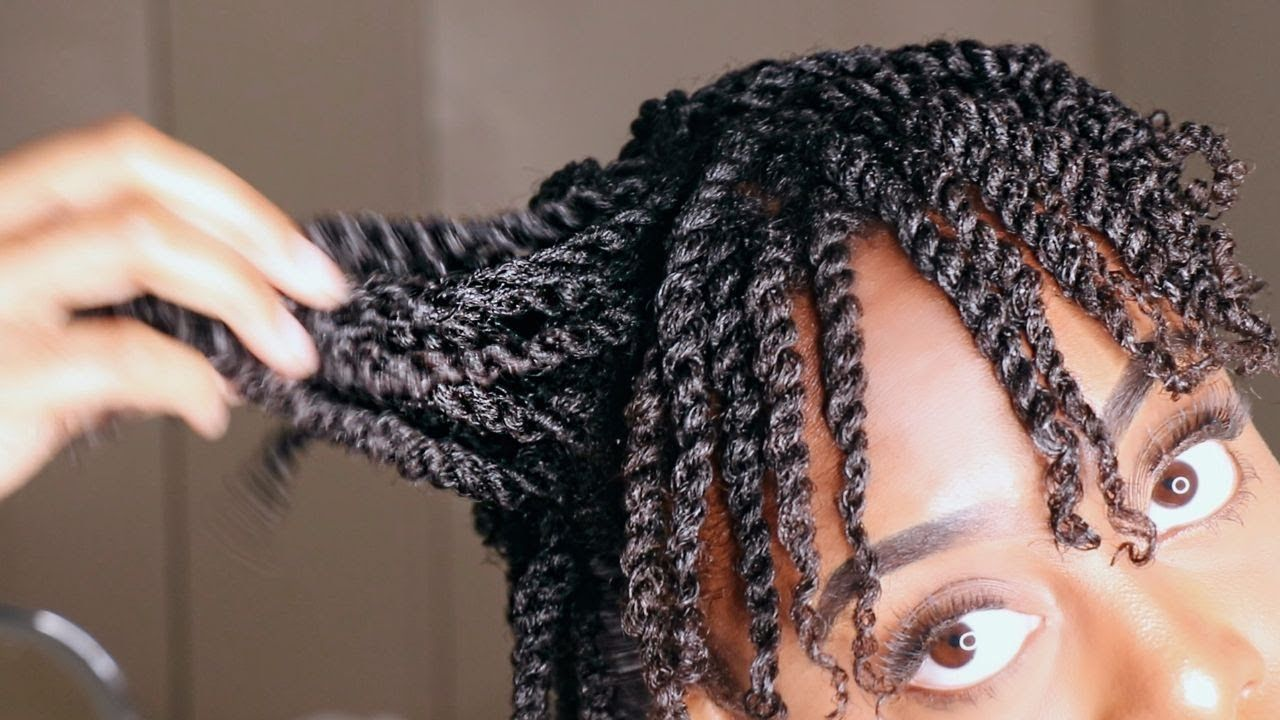 How To Mini Twist on Short Natural 4b/4c Hair   GLORIA ...
