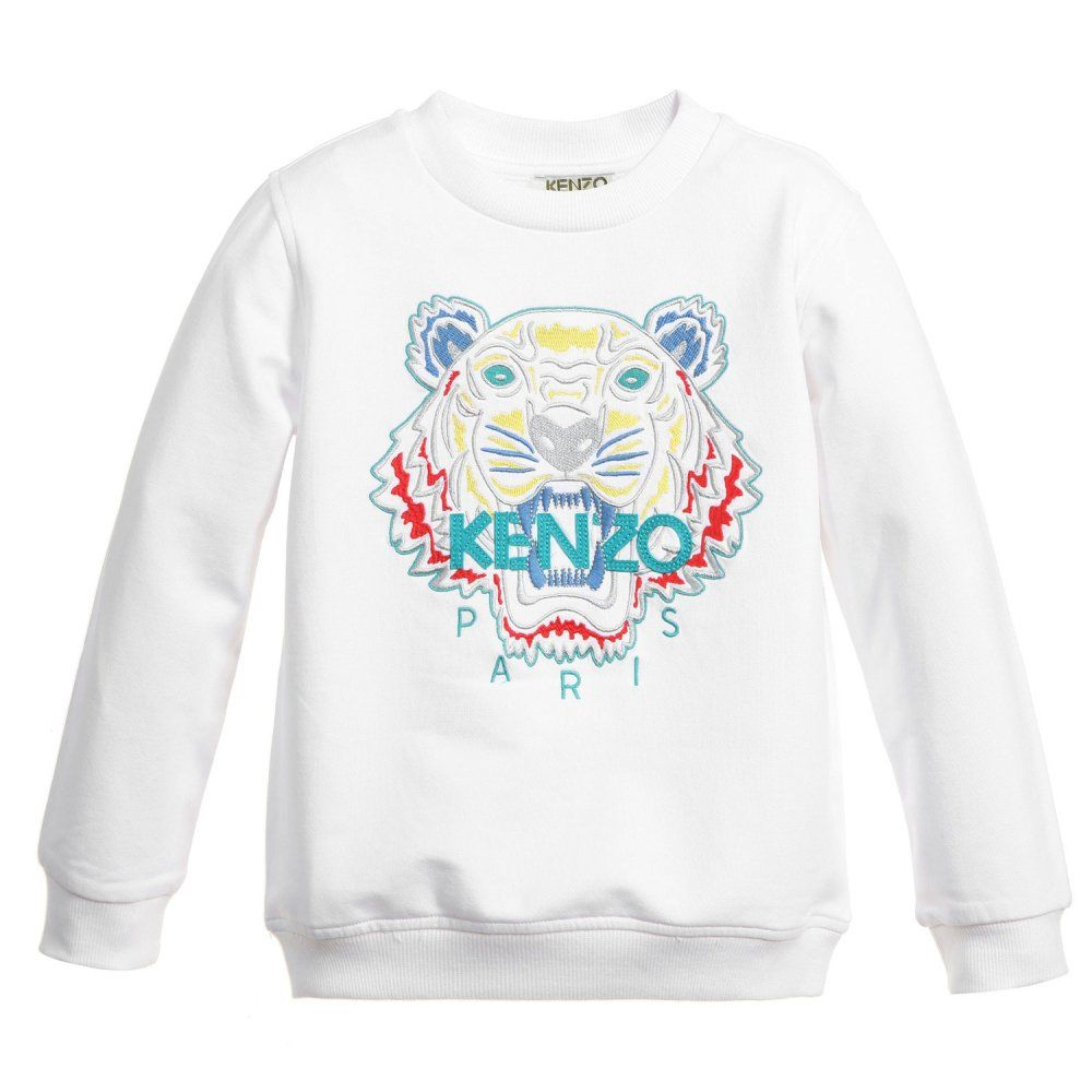 9bbe9b000 KENZO Tiger Sweatshirt White | colors | Printed sweatshirts ...