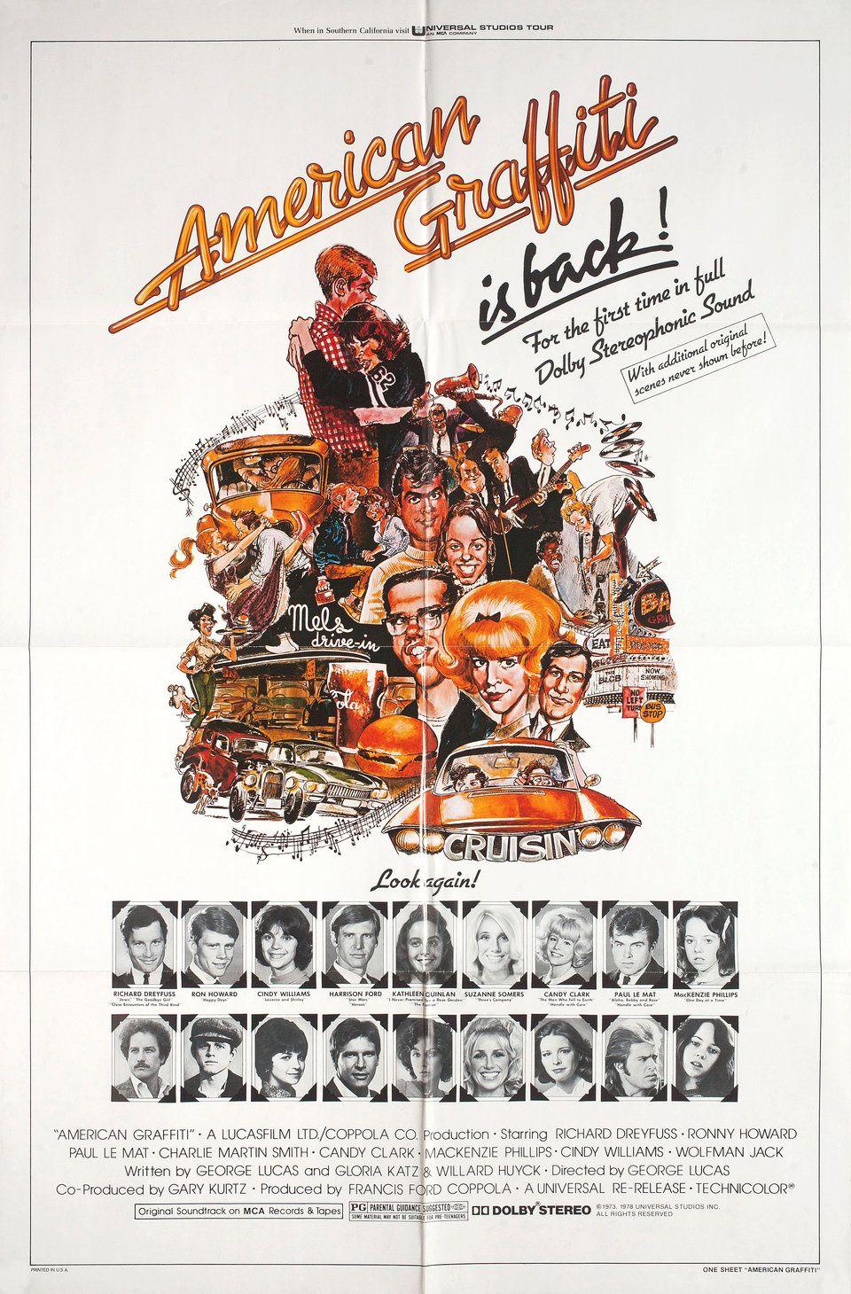 American Graffiti cult movie poster print