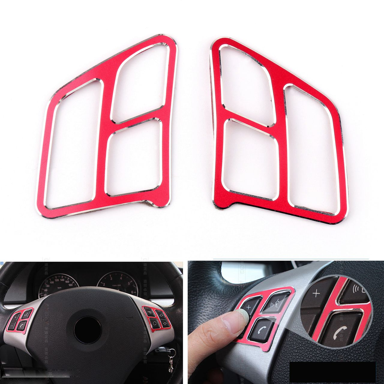 Mad Steering Wheel Button Decal Cover Trim For