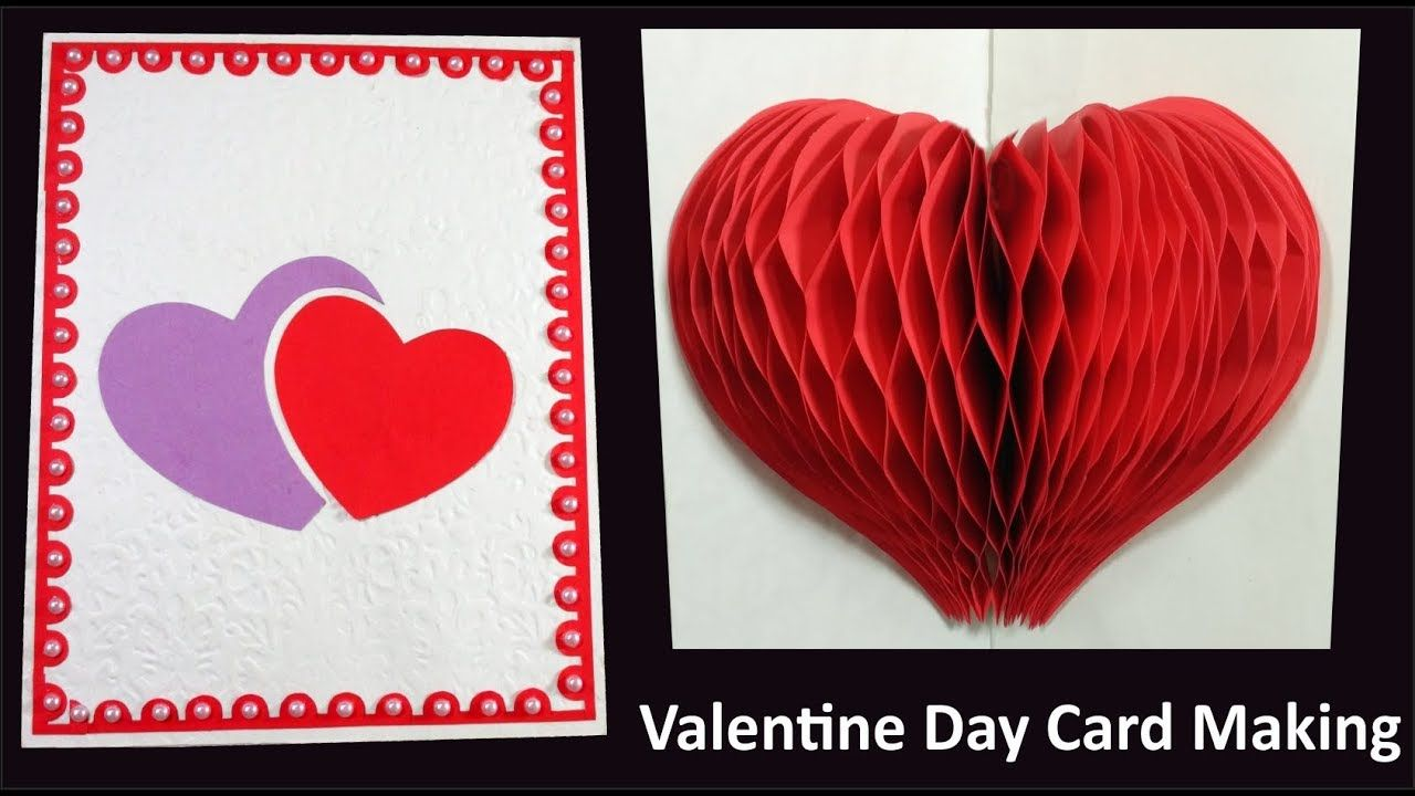 Valentine Day Card Making Ideas 3d Heart Pop Up Greeting Card Valentine Card Making Cards