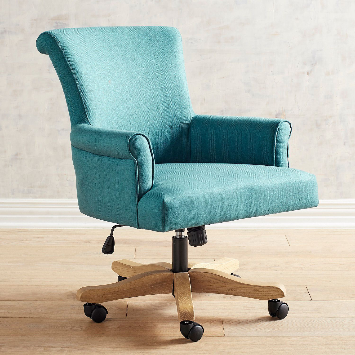 Brennon Sky Turquoise Swivel Desk Chair Home Office Chairs Swivel Chair Desk Patio Chair Cushions