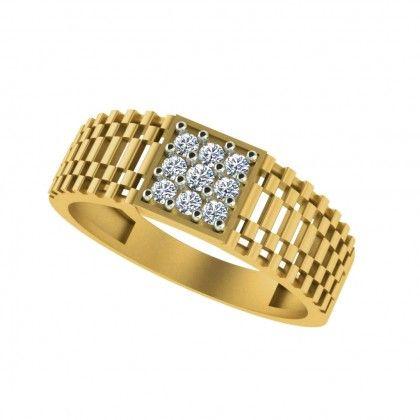 Macho Gilded Men Diamond Ring Men Diamond Ring Rings For Men