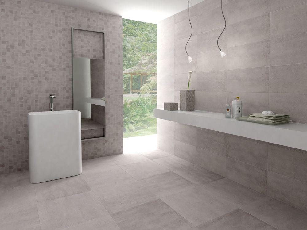 Tegels voor de wand en vloer van de badkamer met de looks van