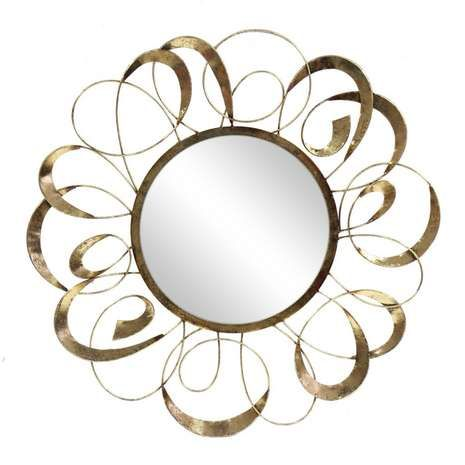 Elegant Script Gold Swirl Decorative Mirror From Dunelm