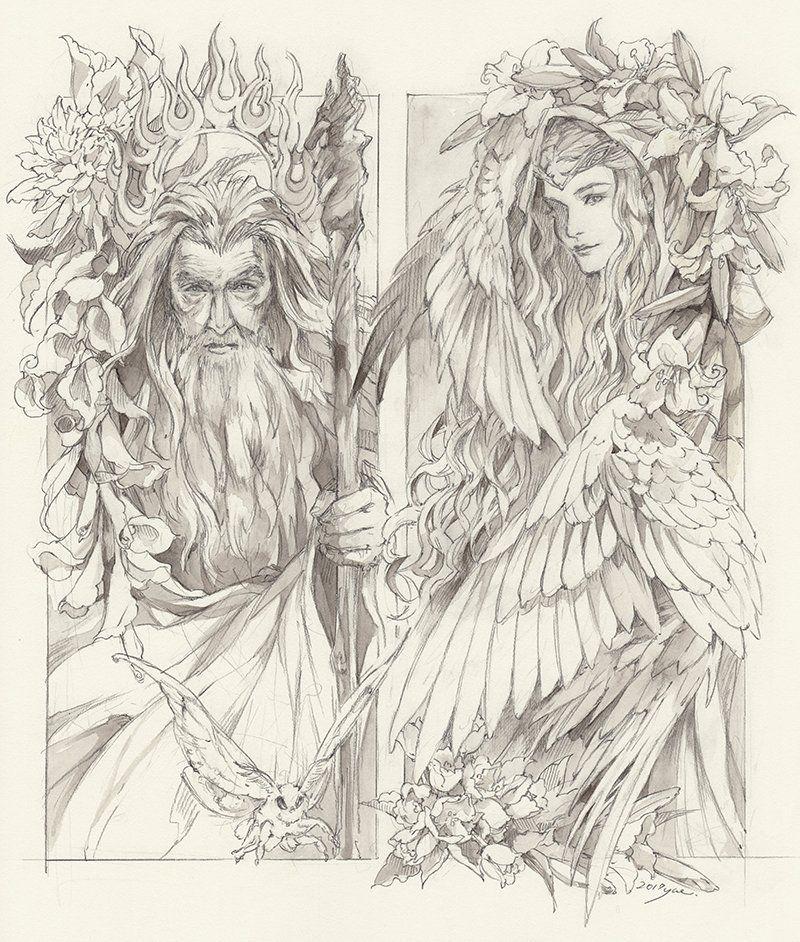 галадриэль и гэндальф Tolkien