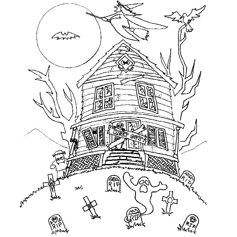 Coloriage halloween qui font peur halloween activities games coloriage halloween - Dessin halloween a imprimer qui fait peur ...