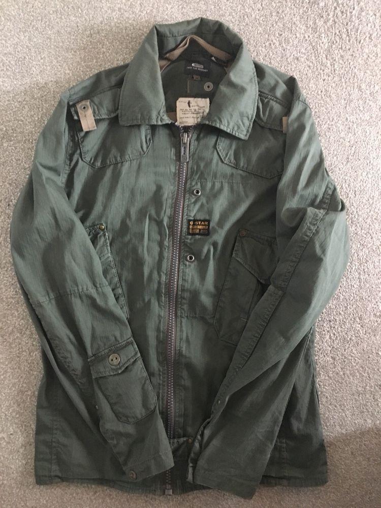 Mens Grey G Star Raw Military Style Jacket Medium Kleidung Accessoires Herrenmode Jacken Mäntel Ebay Jackets Military Fashion Military Style Jackets