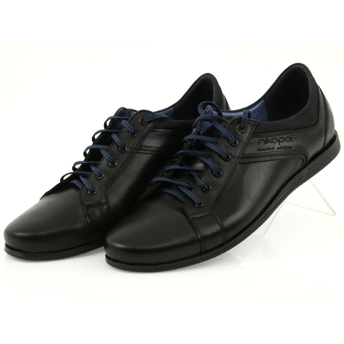 Polbuty Meskie Sportowe Nikopol 1703 Czarne Dress Shoes Men Sport Shoes Men Shoes