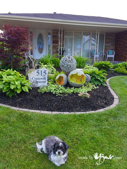 Genial Giant Concrete Garden Orbs   Made By Barb   Concrete Mix Plus Inflatables  Makes Easy Great Garden Sculpture