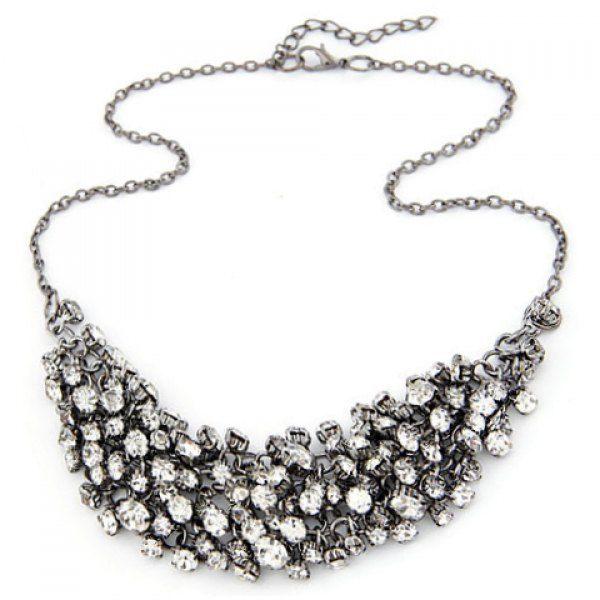 Stylish Rhinestone Embellished Necklace For Women