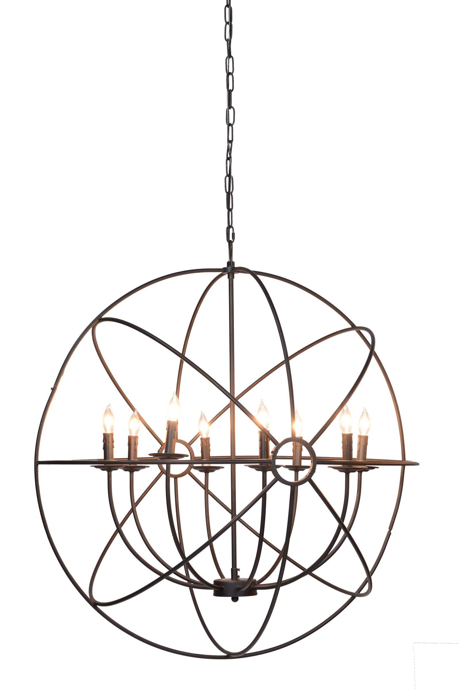 Derince iron chandelier this spectacular iron chandelier is derince iron chandelier this spectacular iron chandelier is inspired by ancient astronomy armillary spheres arubaitofo Image collections