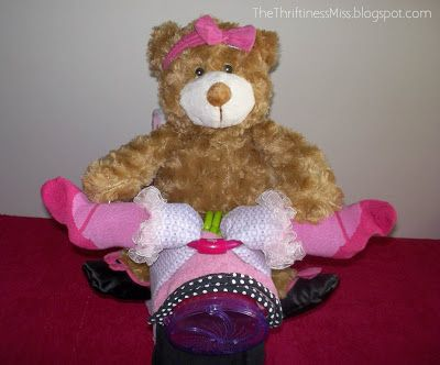 The Thriftiness Miss: Diaper Motorcycle for a Baby Girl