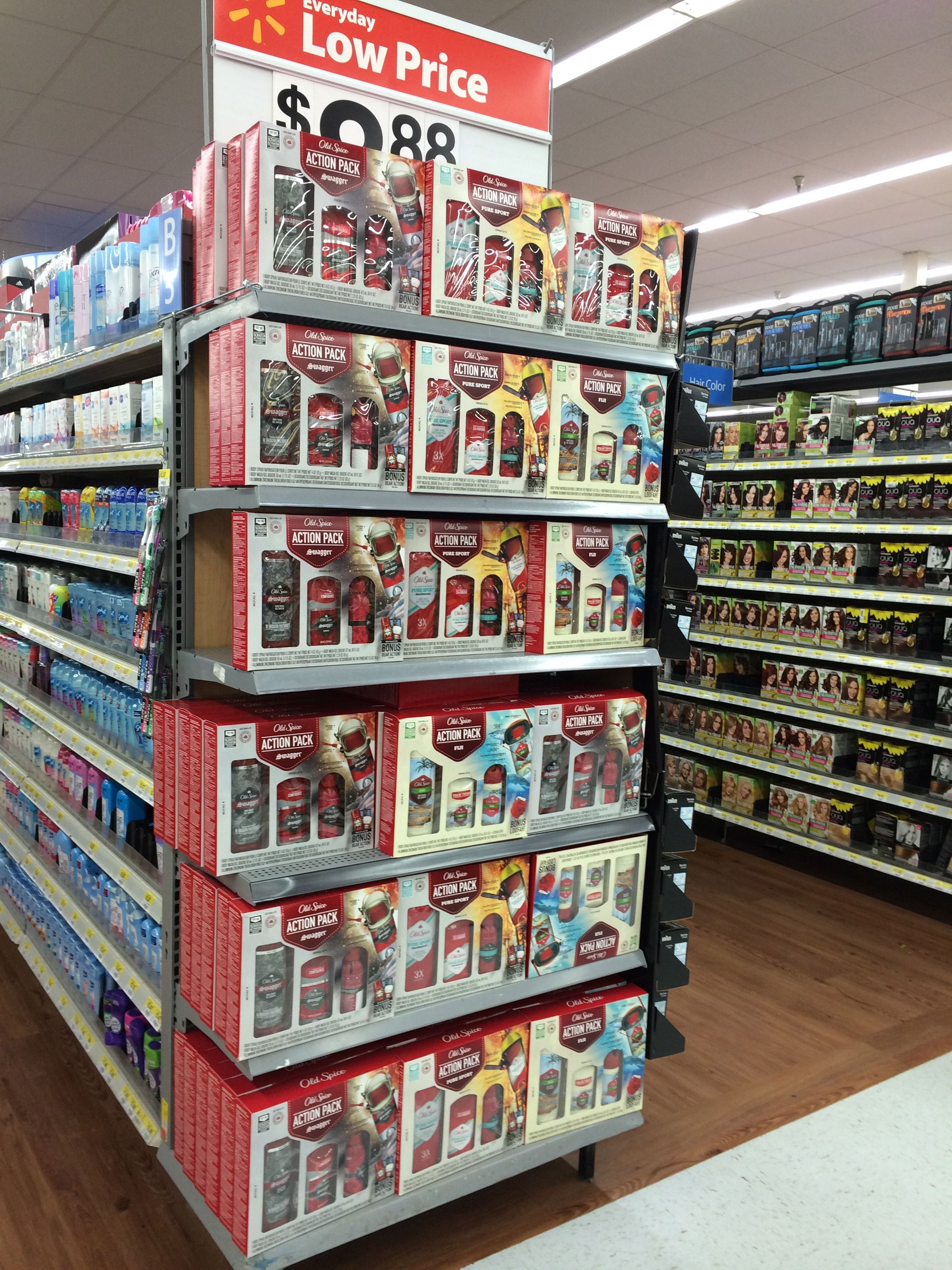 Walmart, 11/20/13, Old Spice Special Pack Endcap   Holiday 2013 ...
