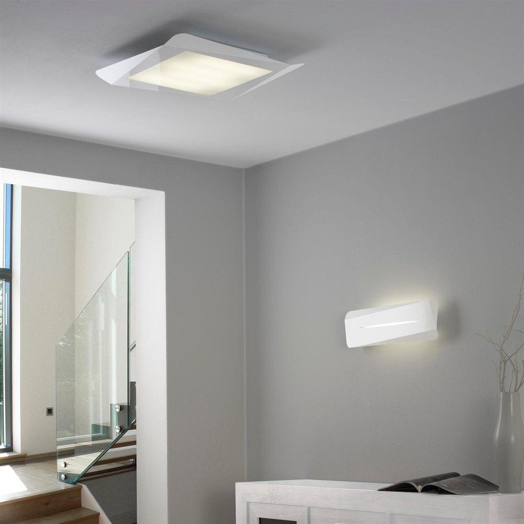 L mpara de techo plaf n lontu 58x58 y aplique de pared - Lamparas techo modernas ...