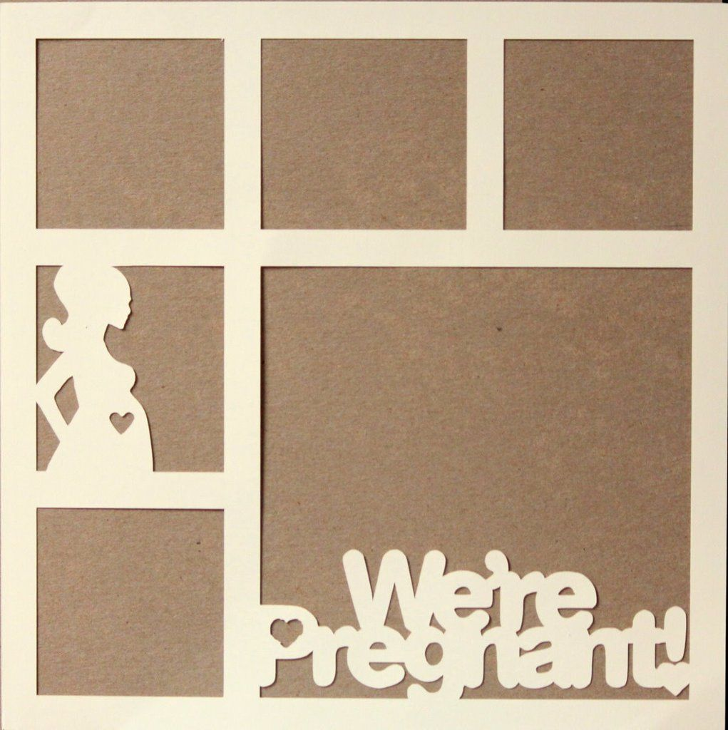 "Die-Cut Cardstock We're Pregnant! 11.50"" x 11.50"" Scrapbook Page Overlay is available at Scrapbookfare."