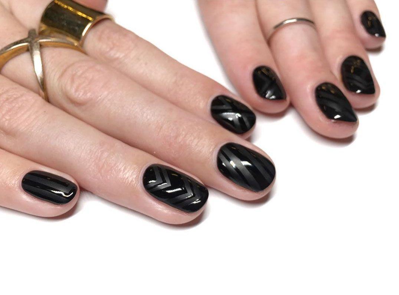 8 Matte Black Nails Ideas Idea to Try for Your Next Manicure | Matte ...