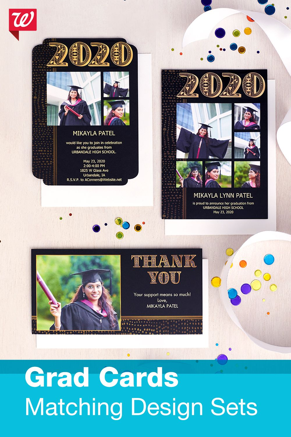 Matching grad card sets in 2020 graduation cards card