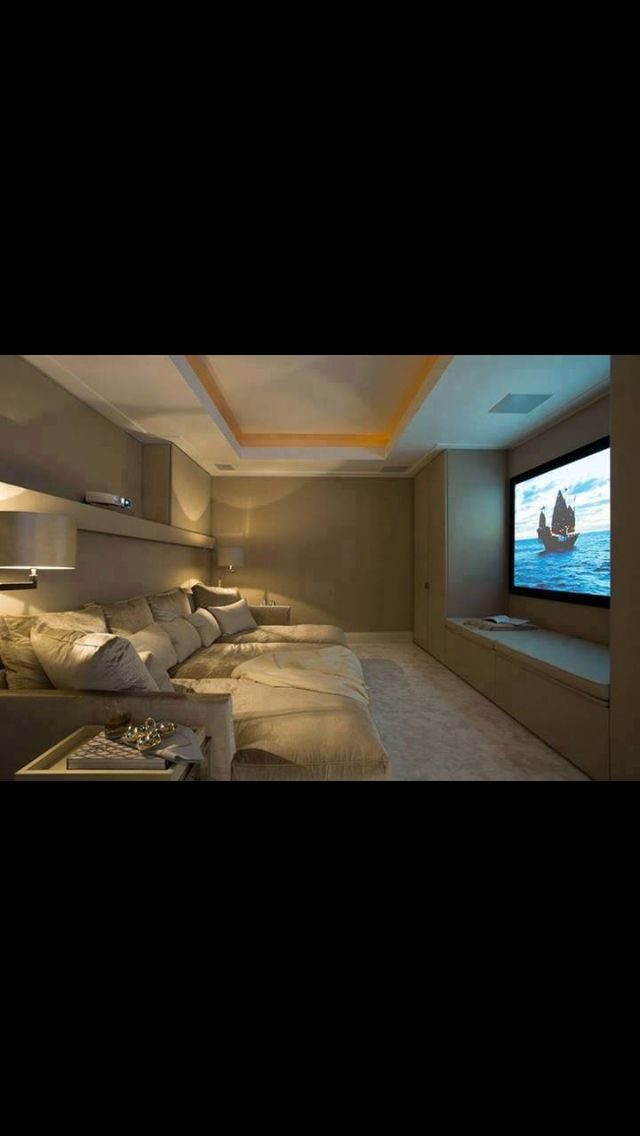 Love This! Small Room, Huge Tv,big Comfy Couch! | For The Home