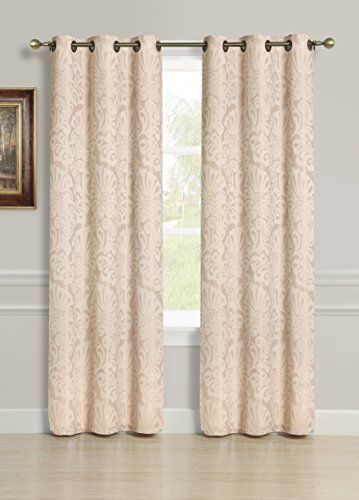 S.L.+Home+Fashions+Scarlett+Blackout+Jacquard+Window+Panel+