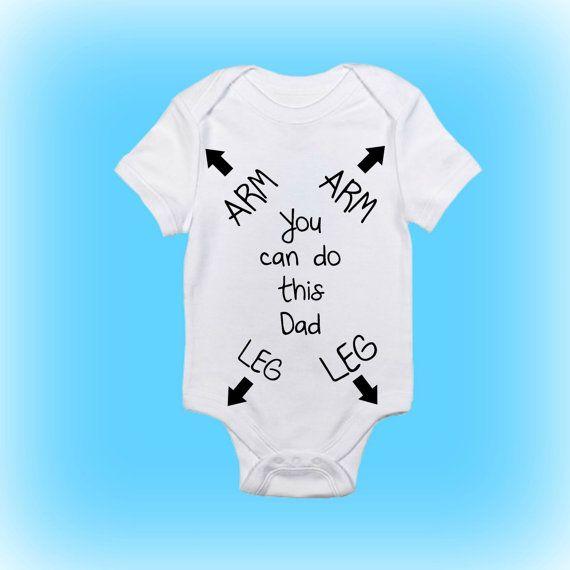 gift for new daddy funny baby onesie new by showertimebabywear