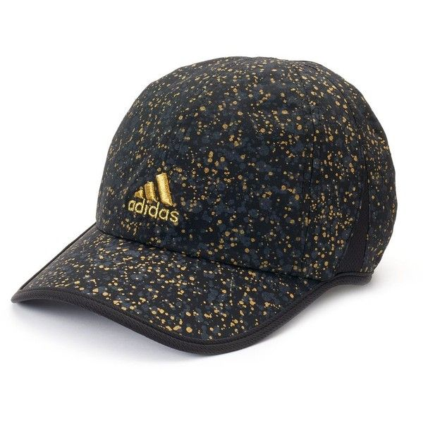 brand new 39ce2 4514a Women s Adidas Adizero II Spattered Baseball Hat ( 22) ❤ liked on Polyvore  featuring accessories, hats, black, adidas, adjustable ball caps, ...