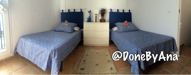 Done by ana cabecero acolchado para cama de 90 y 150 deco pinterest rum - Cabecero cama acolchado ...