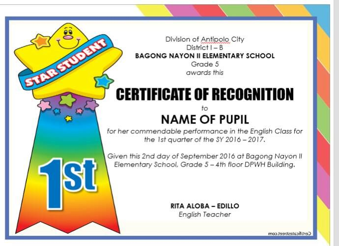 Deped Diploma Sample Wordings - Yahoo Image Search Results - examples of certificate of recognition