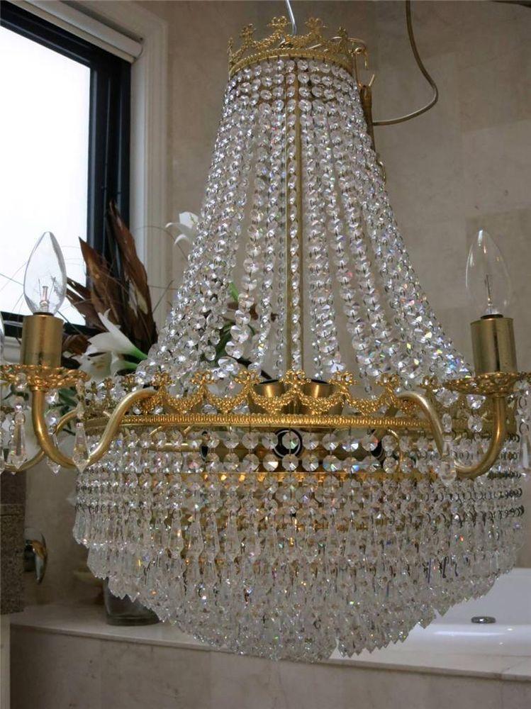 French provincial crystal basket chandelier ceiling light french provincial crystal basket chandelier ceiling light aloadofball Gallery