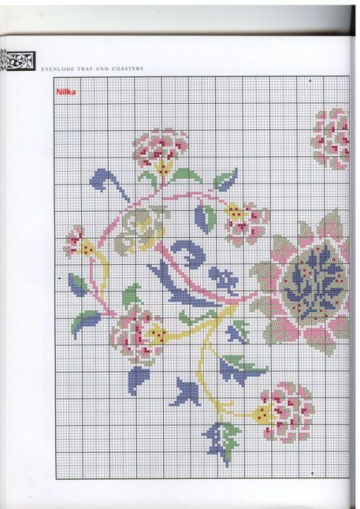 Gallery.ru / Фото #36 - The art of William Morris in cross stitch ...