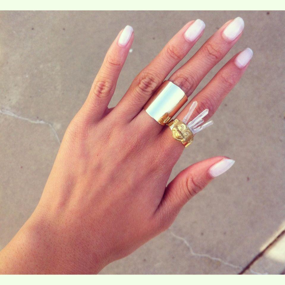 troll #crystal #quartz #aura #gold #ring #nailpolish #nails ...