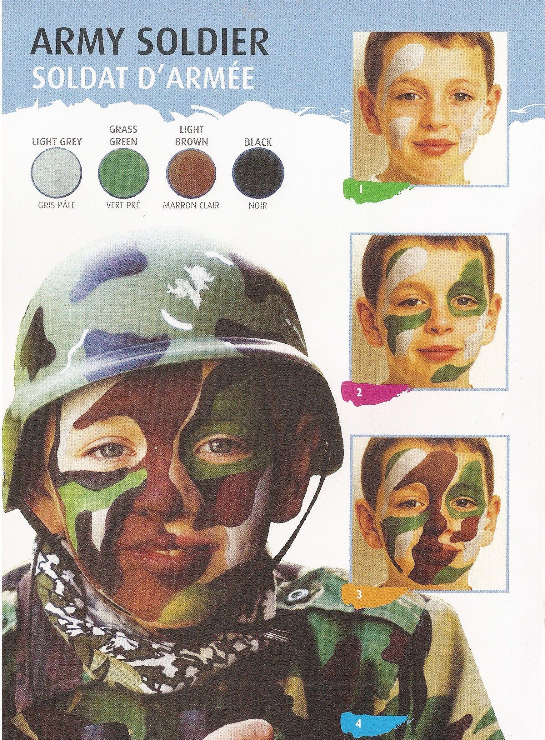maquillage garcon soldat armee carnaval